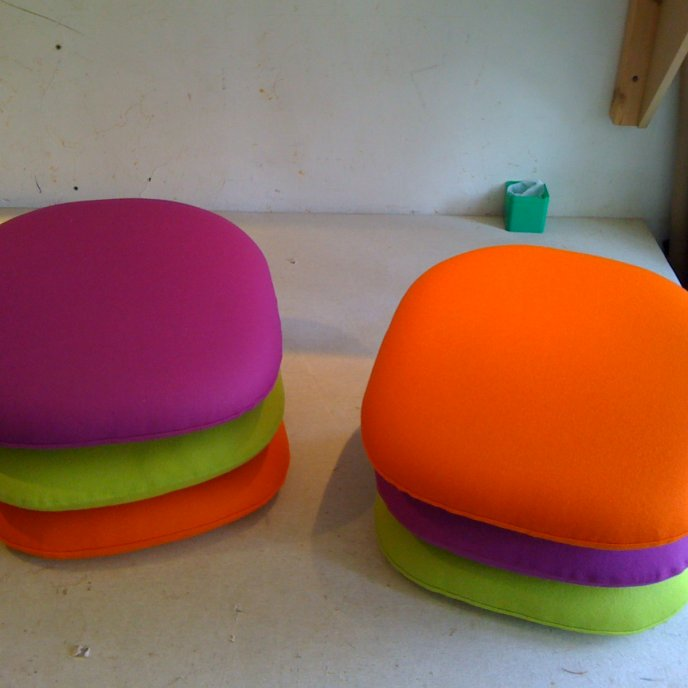 Galettes d'assises chaises Tulip - Carré Plein
