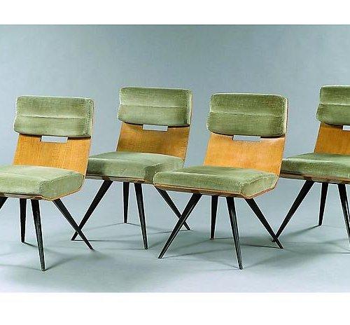 Suite de 8 chaises - Carré Plein