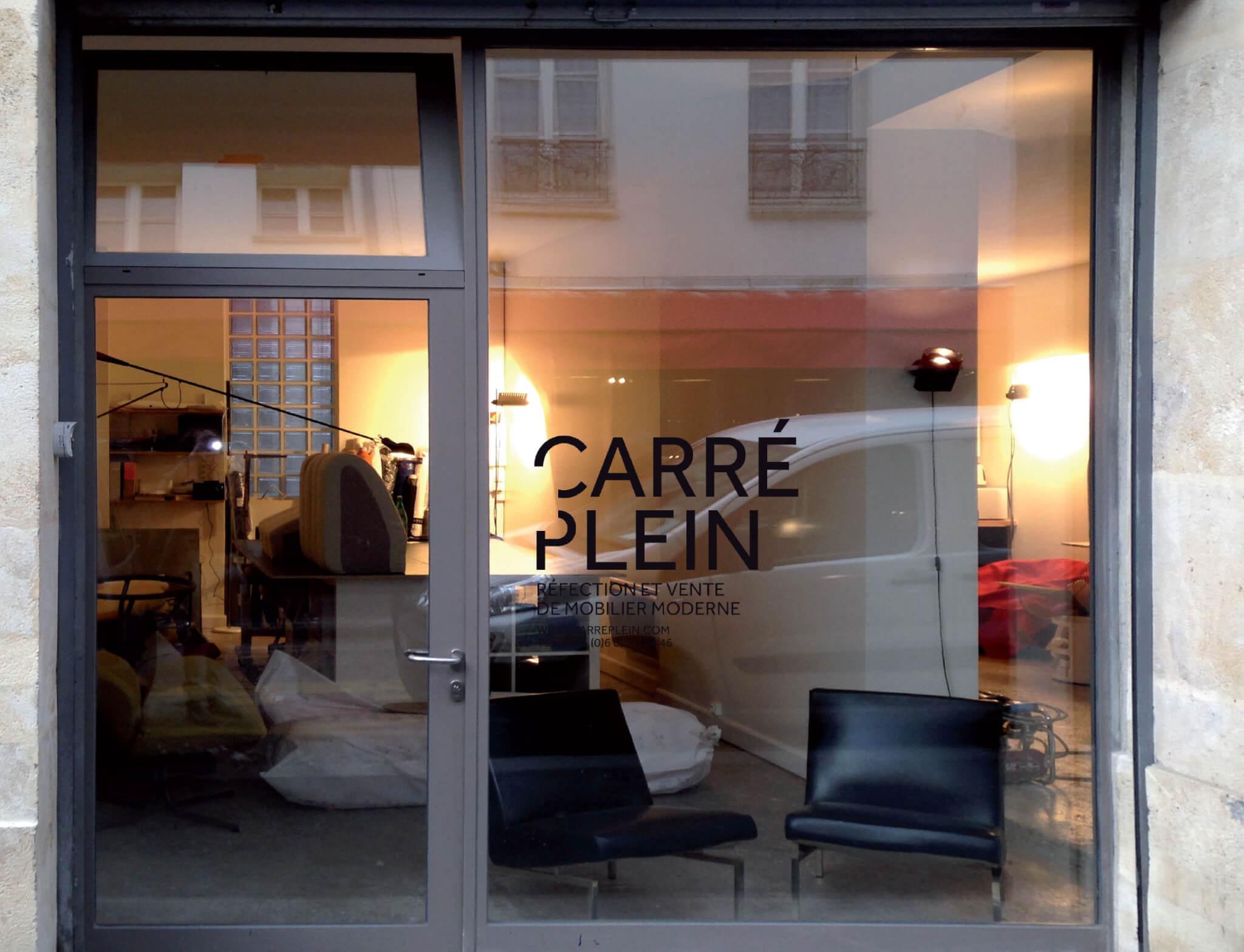 L'atelier Carré Plein rue Ramponeau à Paris